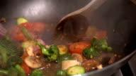 Gerührt Gemüse In einer Pfanne