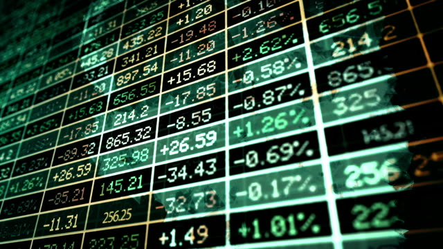Stock exchange market concept