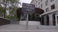 Stock footage of New Scotland Yard the headquarters of the Metropolitan Police Service