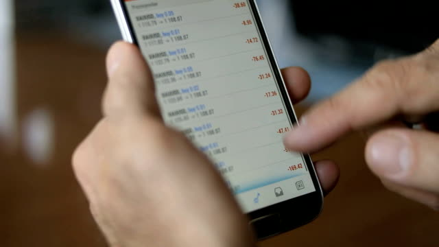 Stock Index on smartphone,Close-up