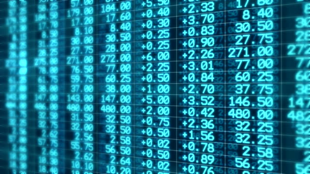 Stock Market Board Moving Seamless Loop Animation