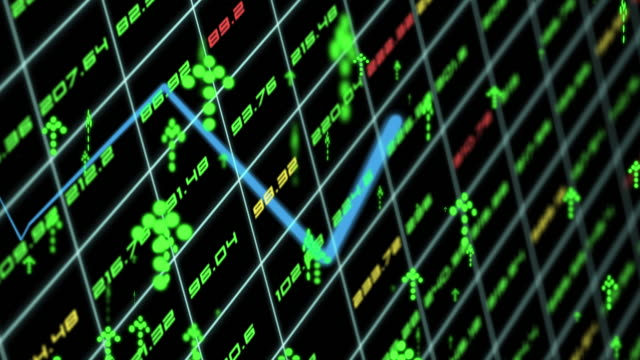 stock market data animation