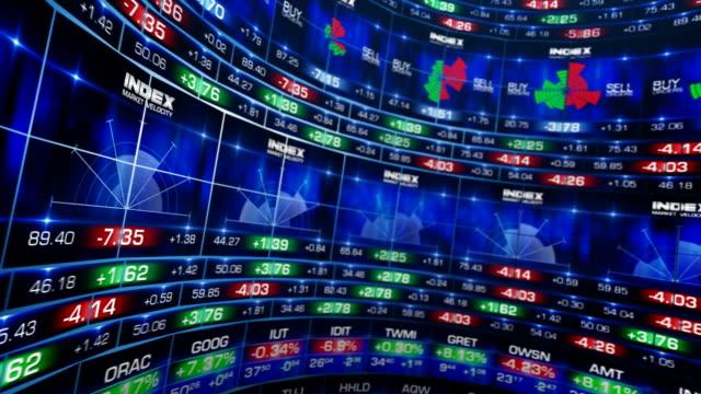 Mercato azionario Visualizza, ampia lente