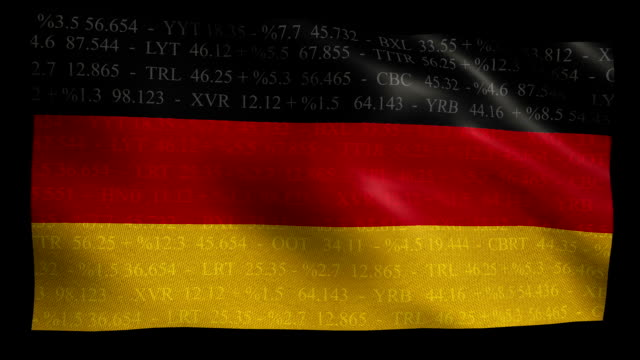 Stock Market Flag of Germany - Alpha and Loop