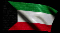 Stock Market Flag of Kuwait  - Alpha and Loop