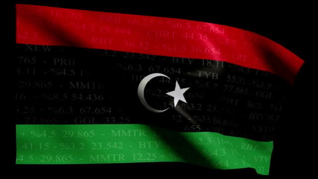 Stock Market Flag of Libya - Alpha and Loop