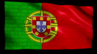 Stock Market Flag of Portugal - Alpha and Loop