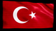 Stock Market Flag of Turkey - Alpha and Loop