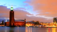 Stockholm Cityhall at dusk