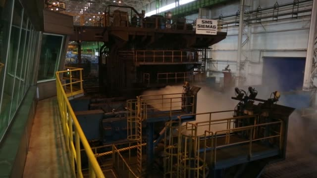 Stocks of steel stand in piles ahead of use in the manufacture of seamless pipes at the Vyksa Steel Works operated by the United Metallurgical Co in...