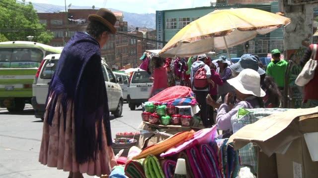 Stockshots of La Paz capital of Bolivia CLEAN Stockshots of La Paz Bolivia on March 13 2014 in La Paz Bolivia