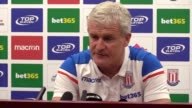 Stoke manager Mark Hughes previews the team's Premier League match against Chelsea