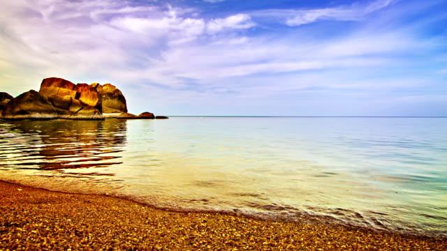 Stone, beach and reflaction