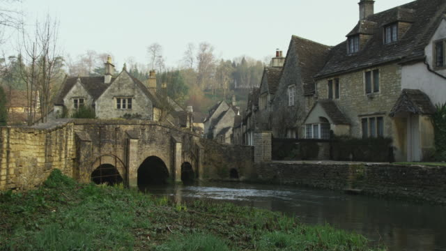 WS Stone bridge and houses, Castle Combe, United Kingdom