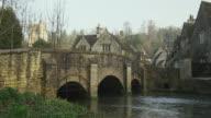 WS PAN Stone bridge and houses, Castle Combe, United Kingdom