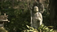 CU Stone Buddha statue, Sanzenin temple, Kyoto, Japan