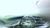 Stone falling in water
