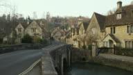 WS Stone houses and bridge, Castle Combe, United Kingdom