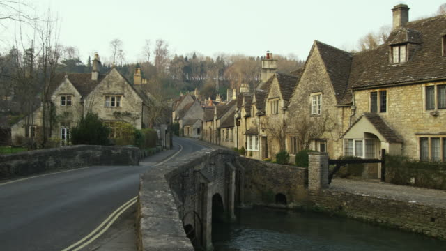 WS Stone houses and bridge, Castle Combe, United Kingdom