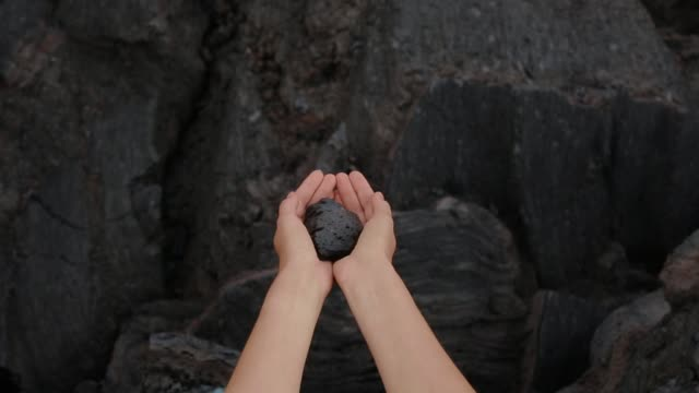 Stone in a hands