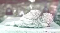 Stone-statue of the sleeping cherub