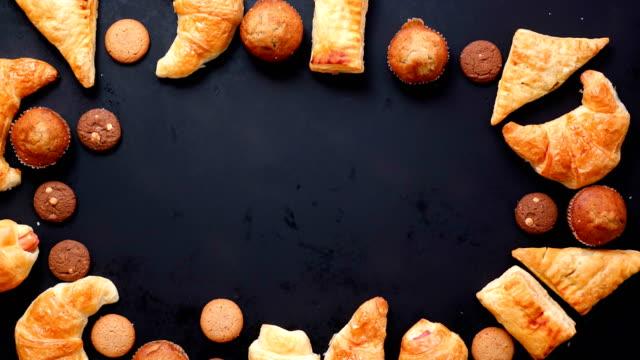 Stop motion bakkerij voedsel