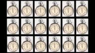 Stop watches starting at zero.
