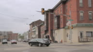 MS Stoplight at intersection of city street / Philadelphia, Pennsylvania, United States