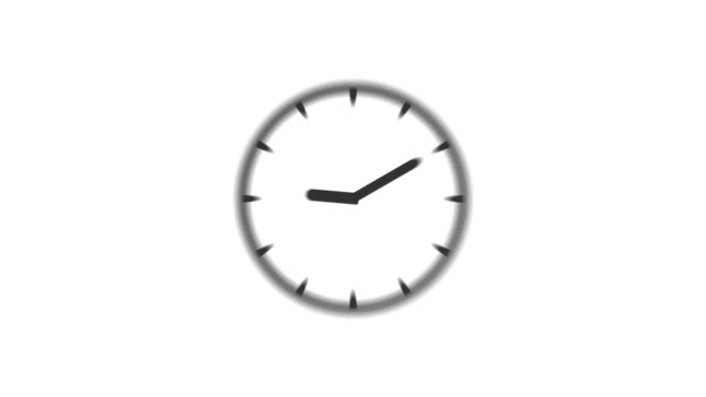 CLOCK : stopping at 5:00 o'clock (WIPE)