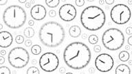 CLOCKS : stopping at 5:00 o'clock (WIPE)