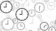 CLOCKS : stopping at 9:00 o'clock (LOOP)