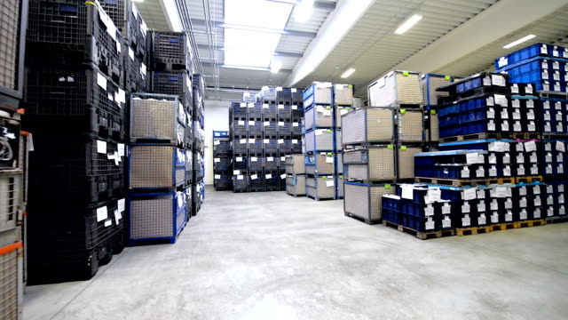 Storage room with boxes
