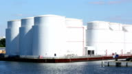 Storage tanks at harbor