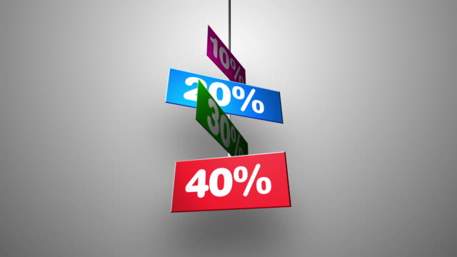 Store discount signs flipping down