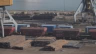Stores of steel awaiting shipment sit on the dockside at Odessa central port in Odessa Ukraine on Wednesday Sept 13 Photographer Vincent...