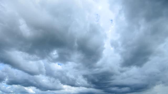 Storm Cloud Rain Time Lapse 4K