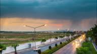 Storm clouds,Rainstorm,Chiangmai International Airport