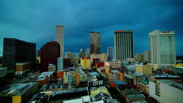 Storm time lapse behind New Orleans, LA