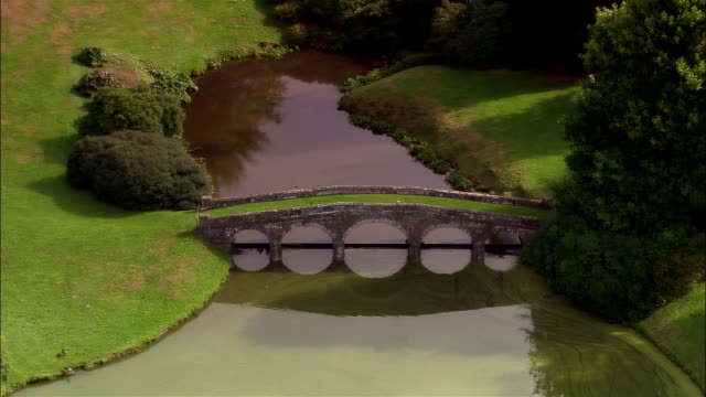 AERIAL, Stourhead gardens, Wiltshire, England