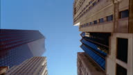 POV  straight up skyscrapers, Toronto, Ontario, Canada