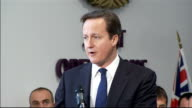 David Cameron and Liam Fox visit to Permanent Joint HQ at Northwood Cameron question and answer session SOT [Question not heard] Can I thank you have...