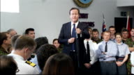 David Cameron and Liam Fox visit to Permanent Joint HQ at Northwood Cameron QA session SOT We had a defence review in 1998 when you think what has...