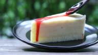 Strawberries crepe cake with strawberry cream
