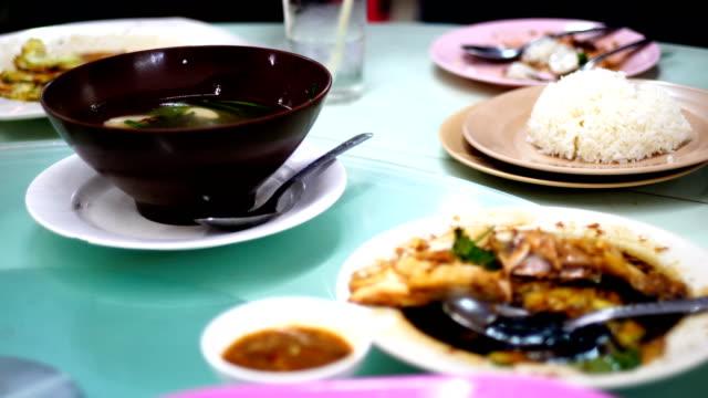 Stream chicken on table,Betong chicken