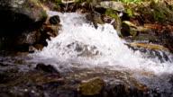 SLO MO Stream splashing over rocks