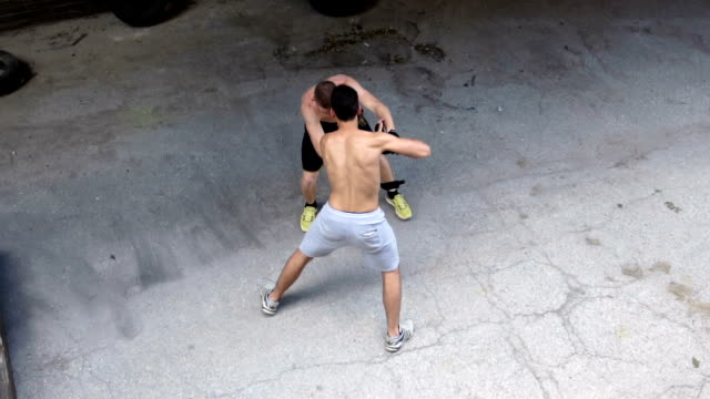 street fight in slow motion