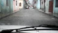 Street flooding during a normal tropical afternoon rain in Santa ClaraCuba