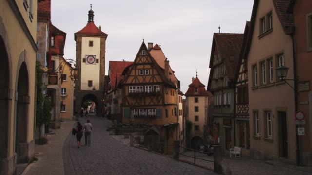 WS Street in old town, Spitalgasse in background / Rothenburg ob der Tauber, Germany