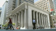 Street intersection with Bank of California in background / San Francisco California USA / AUDIO
