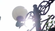 Street lamp - Stock footage